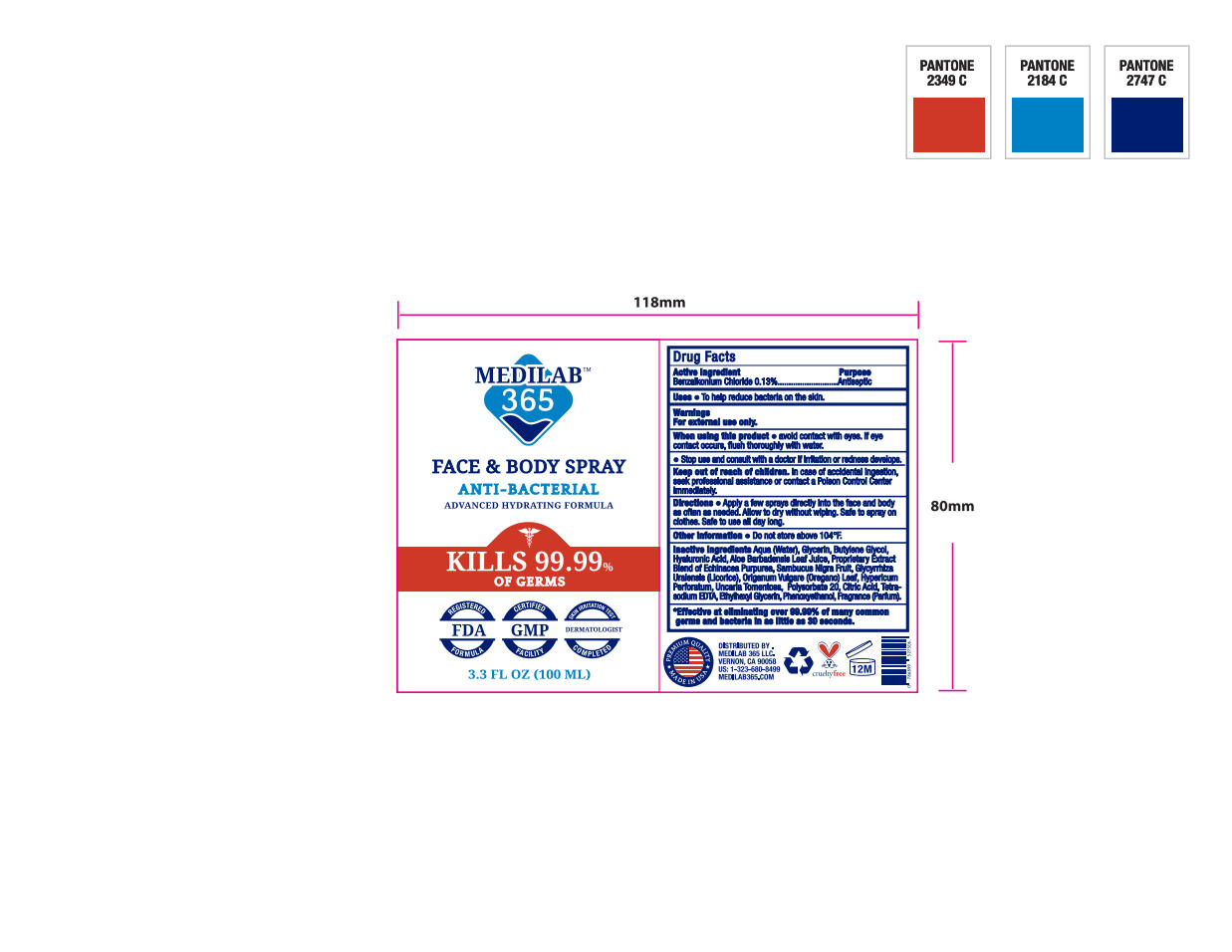 Antimicrobial (VMP Cosmetics): FDA Package Insert