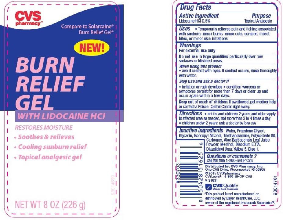 cvs burn relief w  lido 8oz  cvs pharmacy   fda package insert