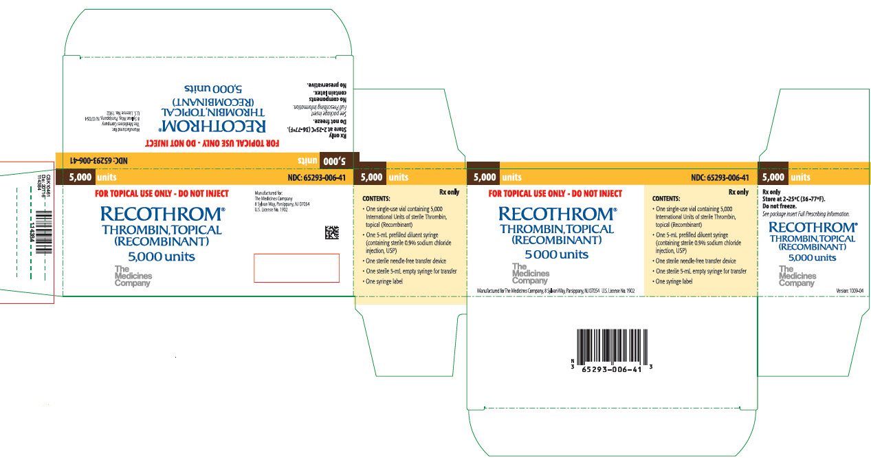 RECOTHROM (The Medicines Company): FDA Package Insert, Page 2