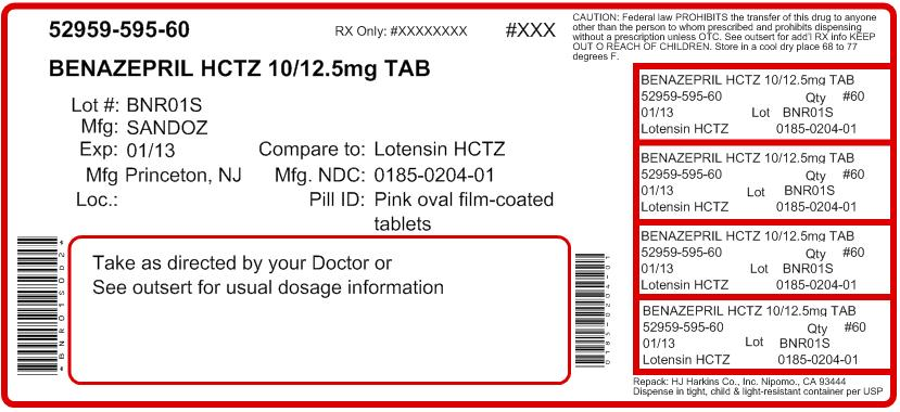 benazepril hydrochloride and hydrochlorothiazide h j