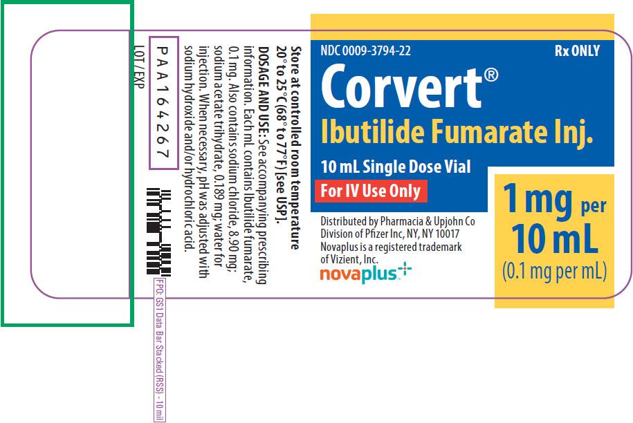 Corvert (Pharmacia and Upjohn Company): FDA Package Insert