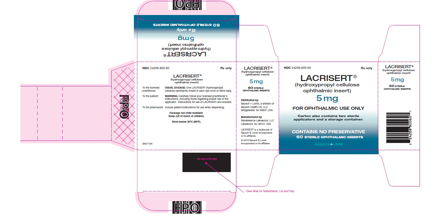 Lacrisert Bausch Amp Lomb Incorporated Fda Package Insert