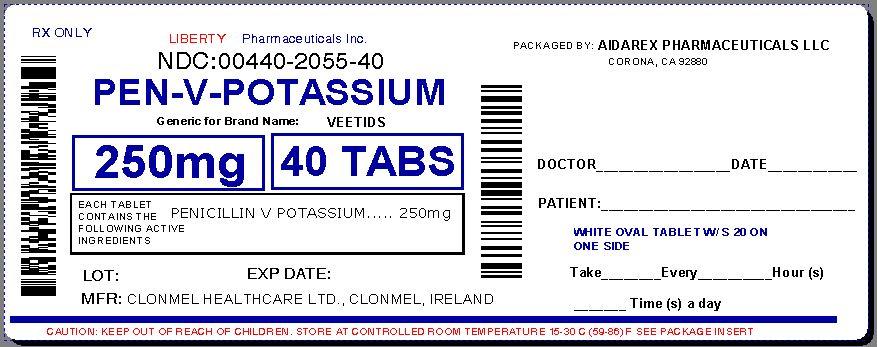 Penicillin v potassium liberty pharmaceuticals inc for Penicillin v tablets