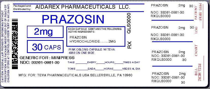 Prazosin Hydrochloride Dosage