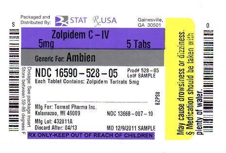 zolpidem drug insert information